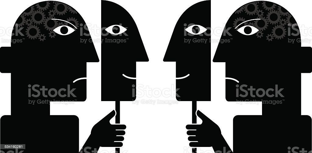 Two faced illustration vector art illustration