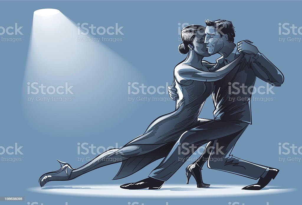 Two for Tango vector art illustration