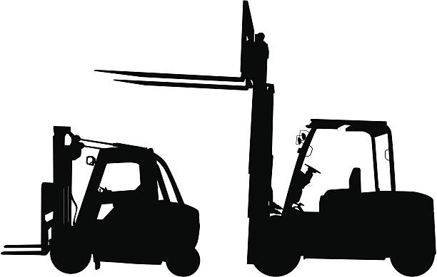 Forklift Clip Art, Vector Images & Illustrations - iStock