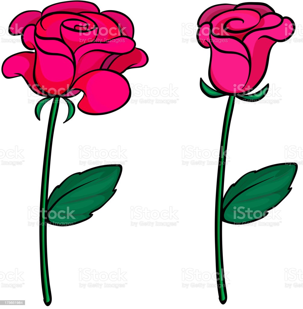 Two fresh roses royalty-free stock vector art