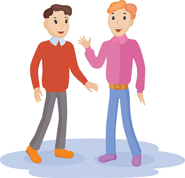 Background Of 2 People Talking Clip Art, Vector Images ...