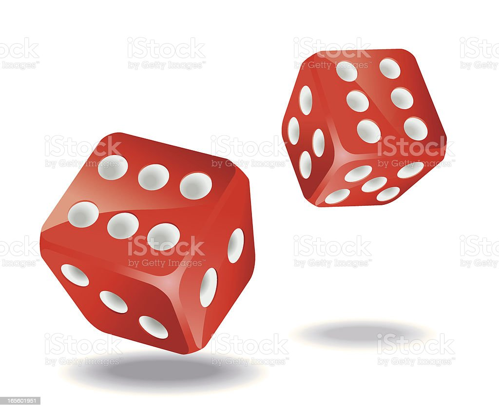 Two Gaming Dices Vector vector art illustration