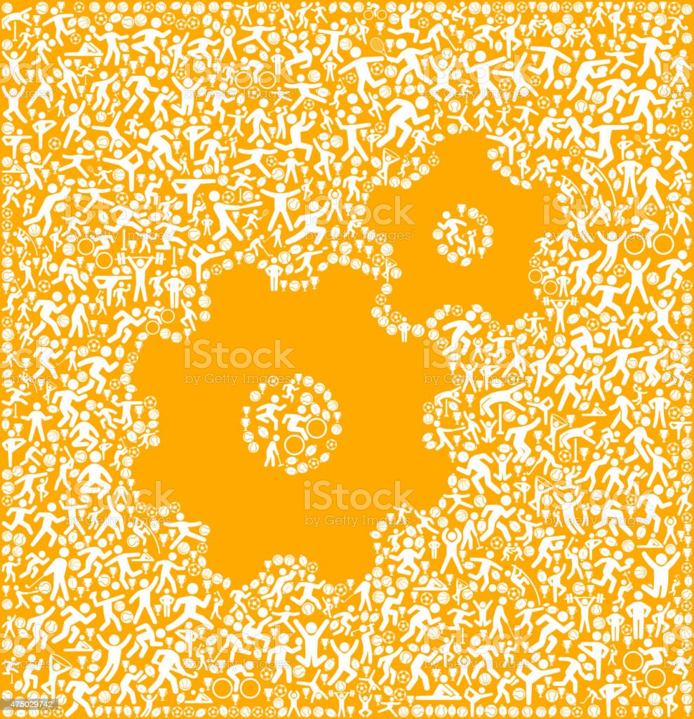 Two Gears Fitness Sports and Exercise pattern vector background vector art illustration