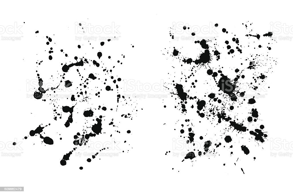 Two grungy  ink blob textures for your designs vector art illustration