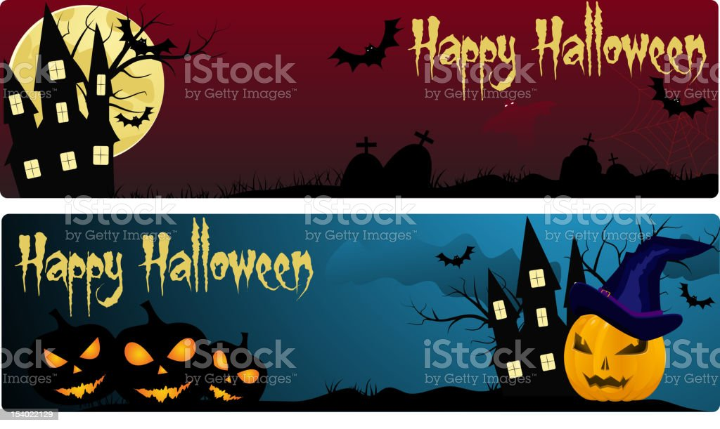 Two halloween banners royalty-free stock vector art