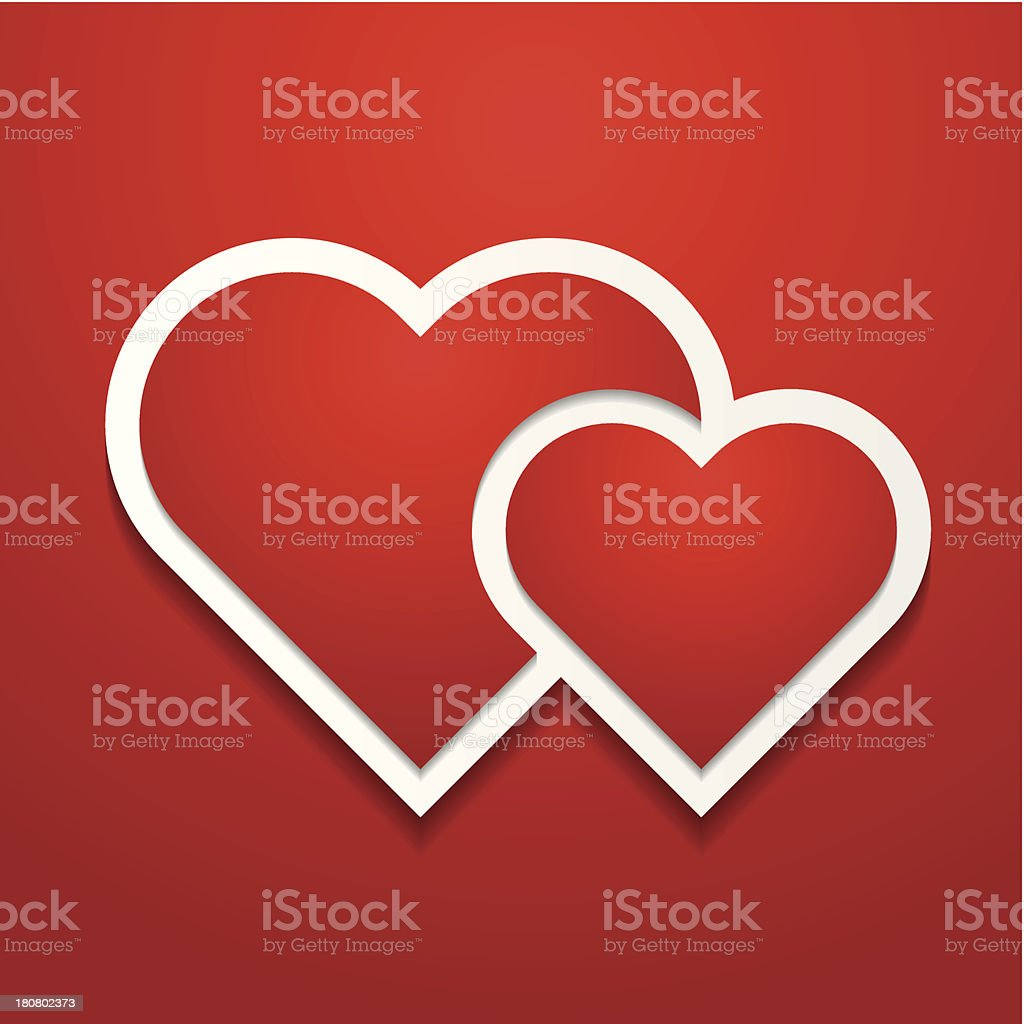 Two hearts background royalty-free stock vector art