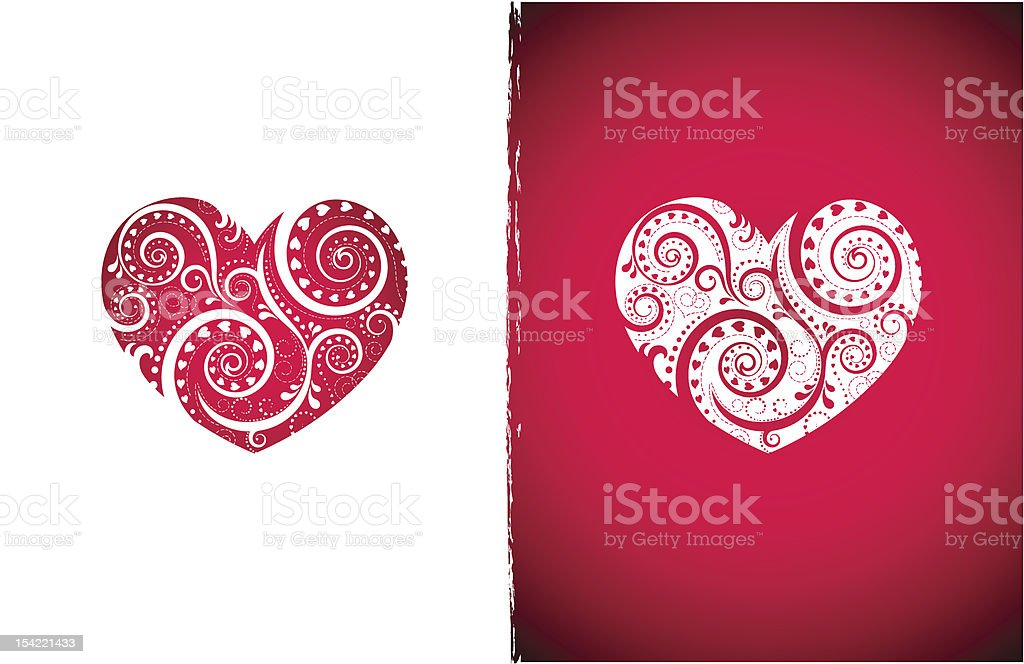Two hearts royalty-free stock vector art