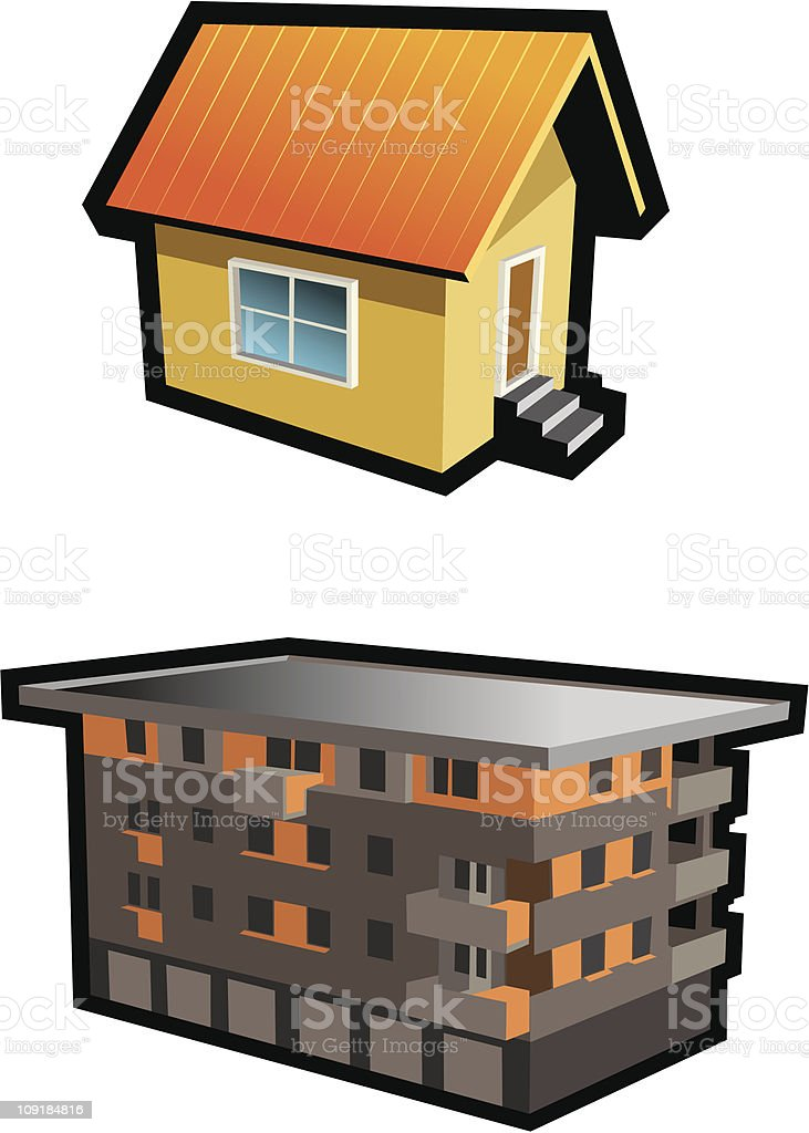Two houses royalty-free stock vector art