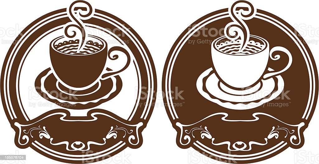 two images with cup royalty-free stock vector art