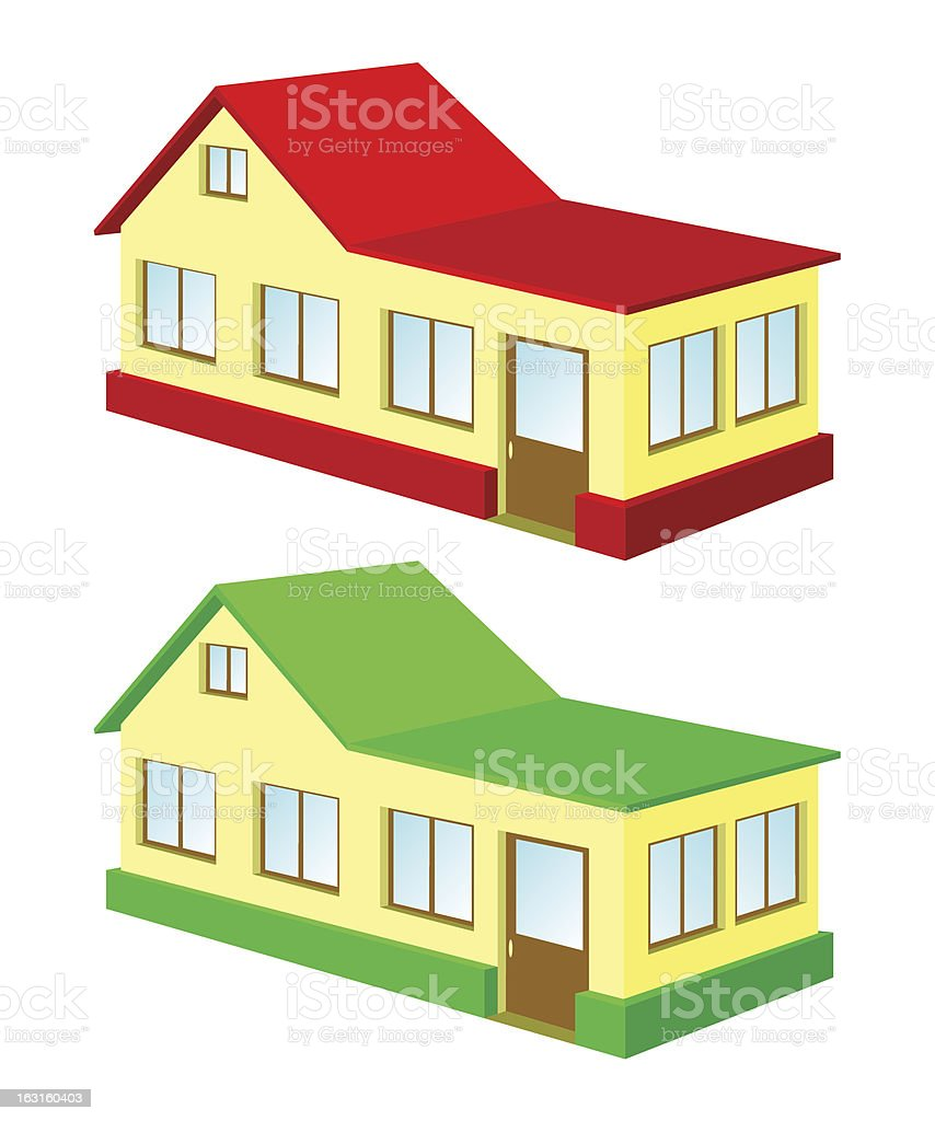 Two isolated at home. royalty-free stock vector art