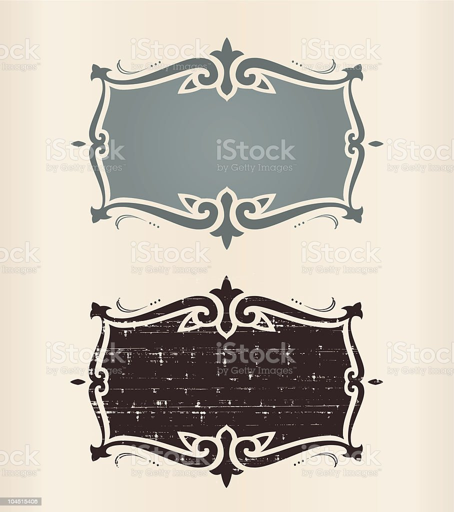 Two kinzie banner templates in brow and blue with text space vector art illustration