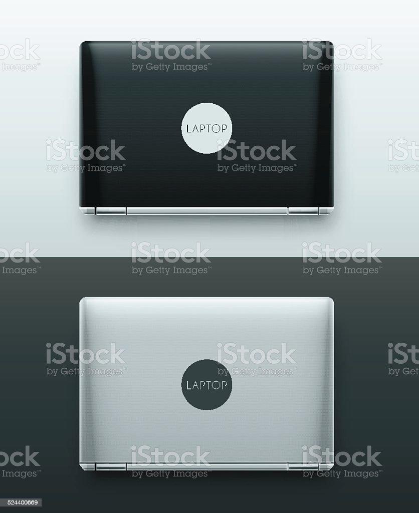 Two Laptops vector art illustration