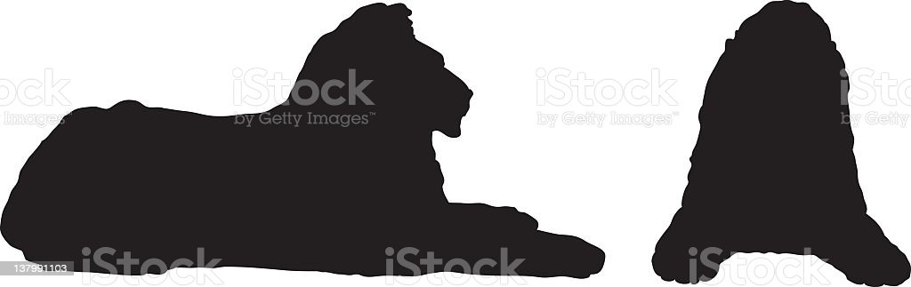 Two Lions royalty-free stock vector art