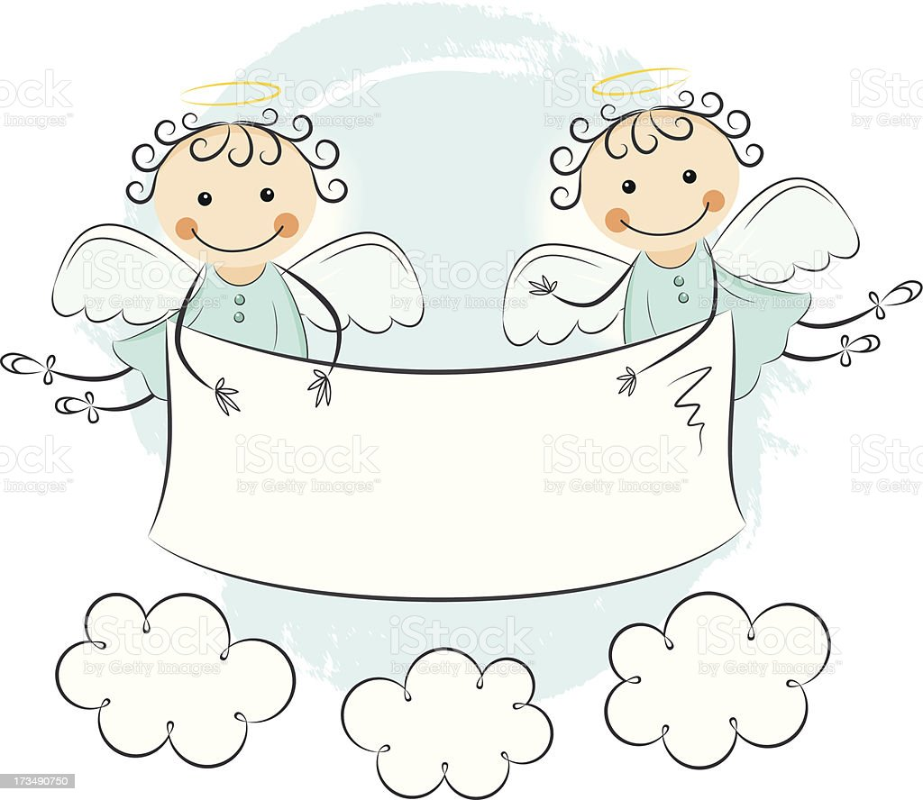 Two little angels royalty-free stock vector art