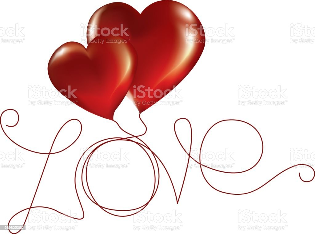 Two lovers heart. Vector illustration vector art illustration