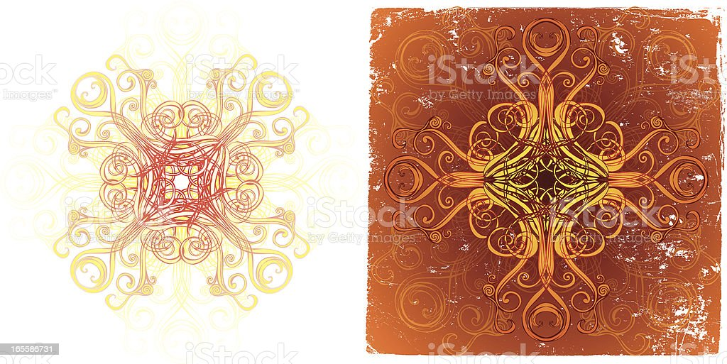 two mandalas royalty-free stock vector art