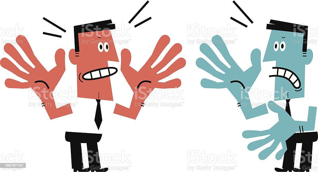 Two Men Arguing vector art illustration