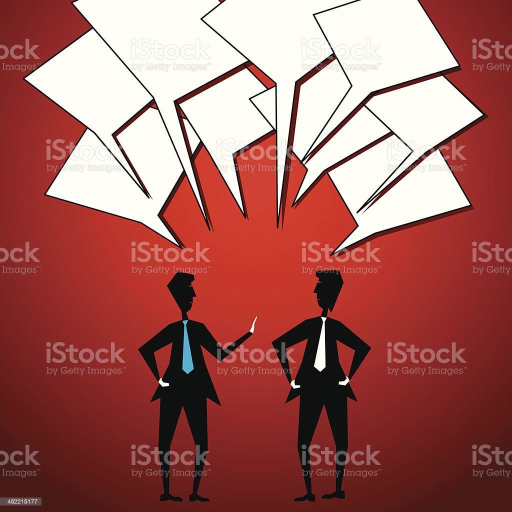 two men communication royalty-free stock vector art