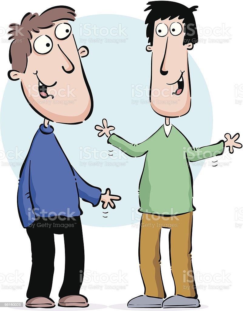 Two men talking. royalty-free stock vector art
