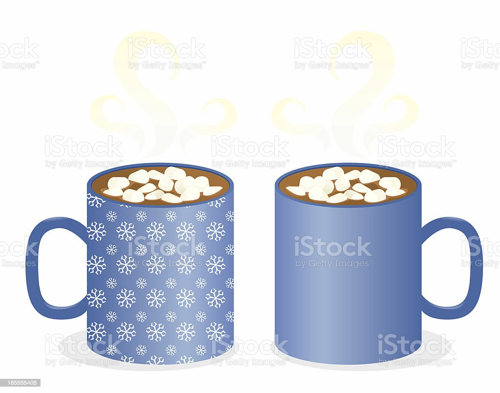 Two Mugs vector art illustration