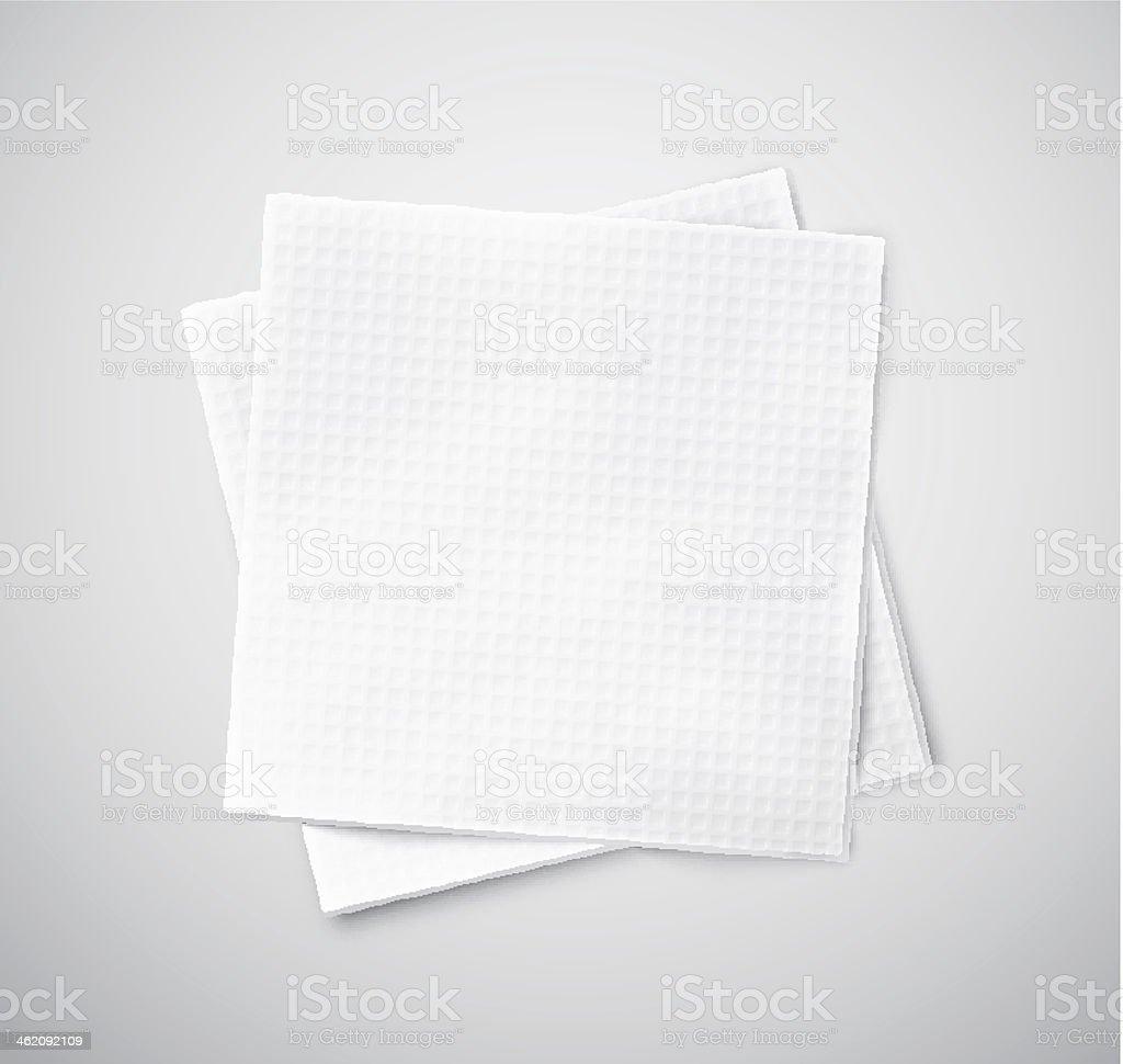 Two napkins vector art illustration