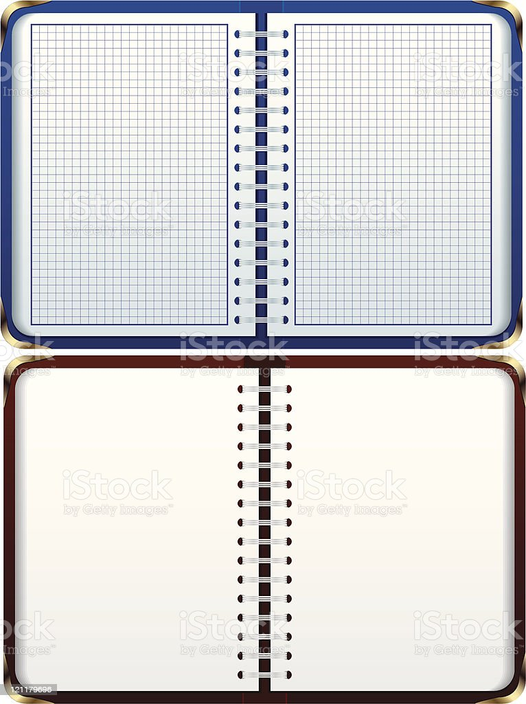 Two notebooks royalty-free stock vector art