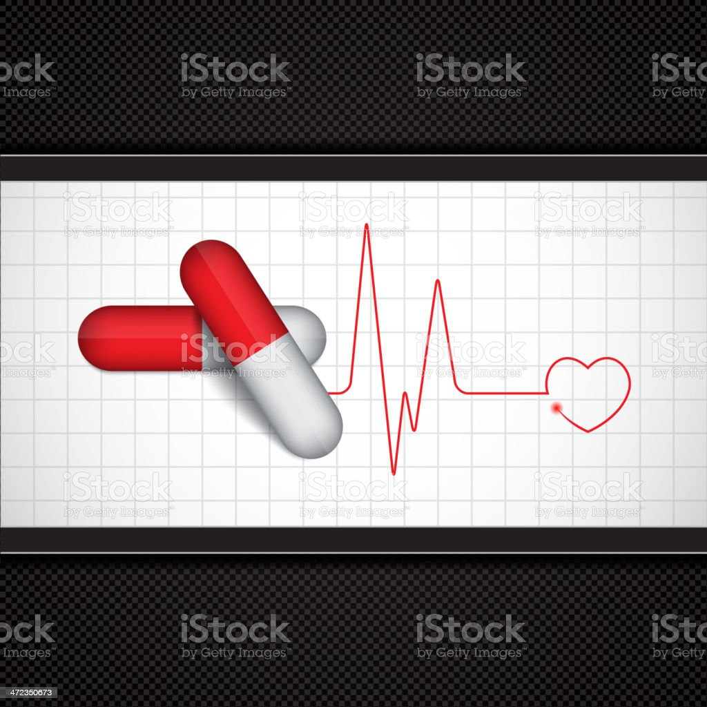 Two pills royalty-free stock vector art