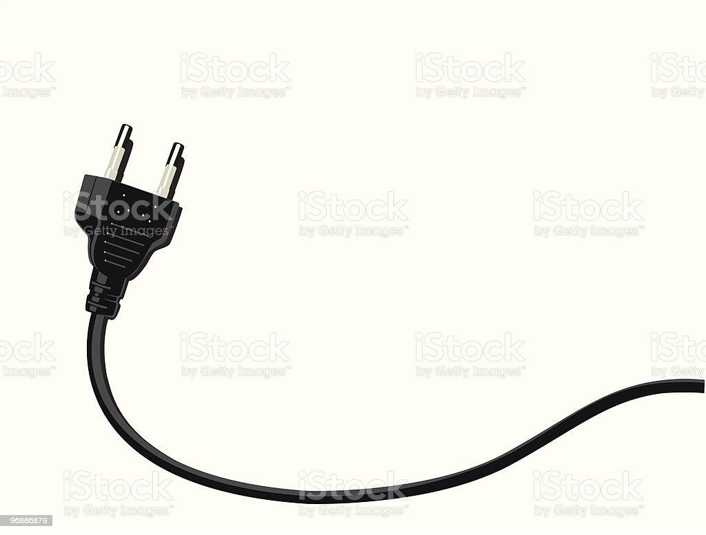 two pin plug vector art illustration
