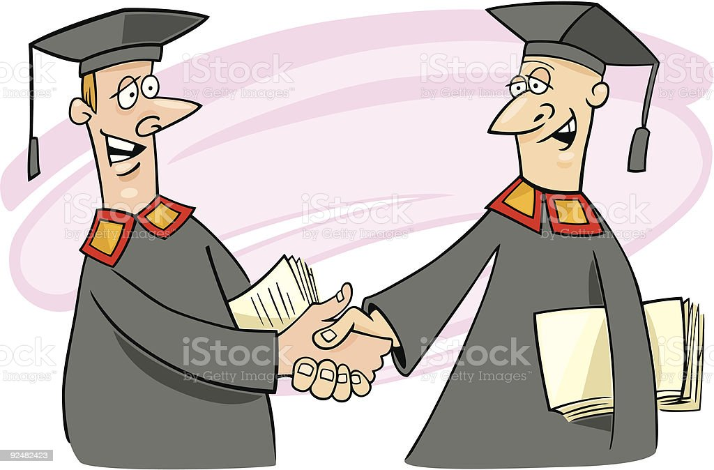 two professors royalty-free stock vector art