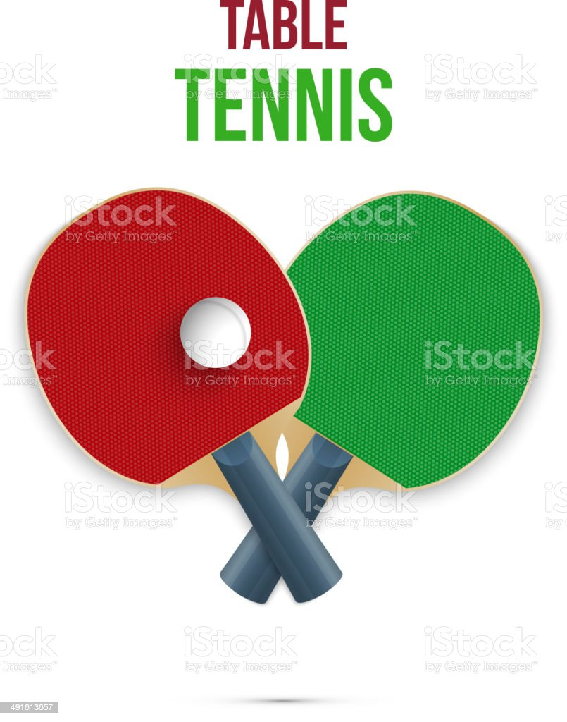 Two rackets for playing table tennis. Vector royalty-free stock vector art