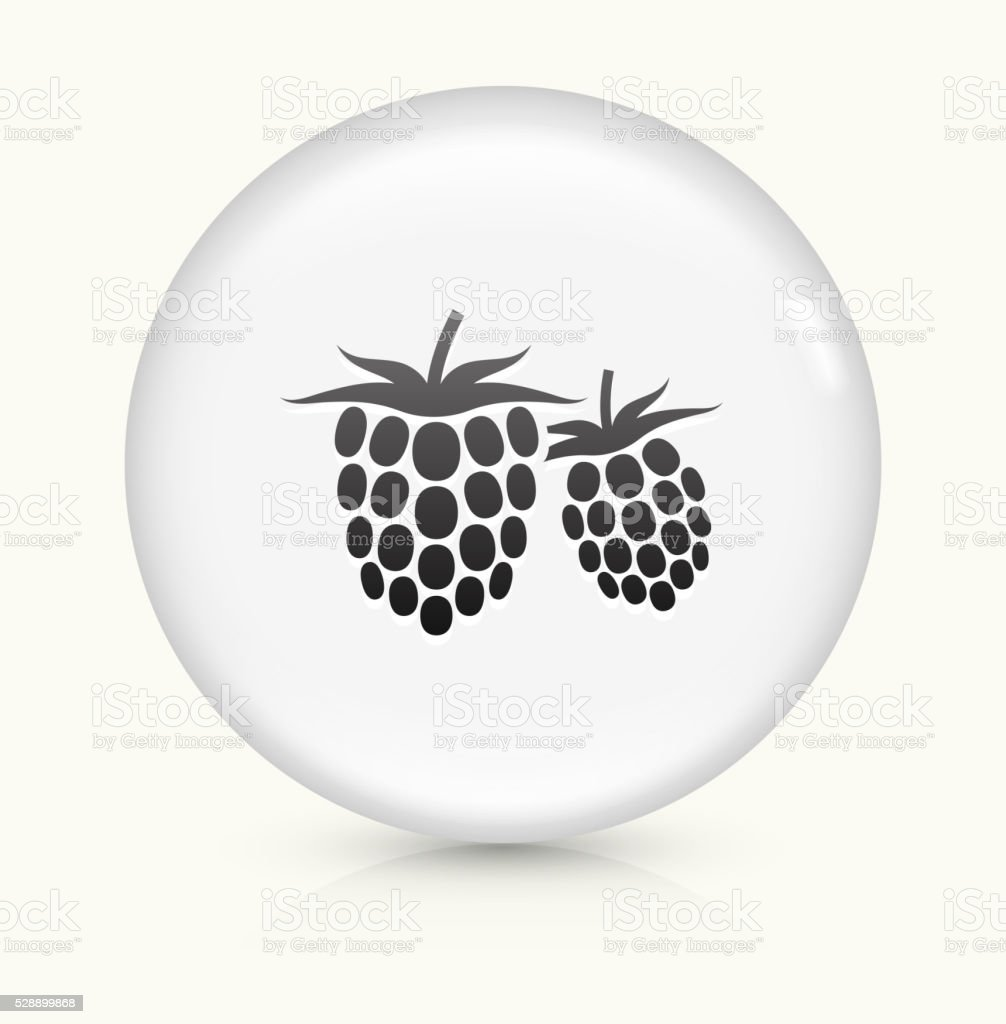 Two Raspberries icon on white round vector button vector art illustration
