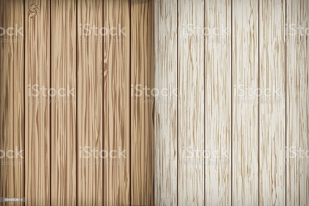 Two realistic wooden background. Vector vector art illustration
