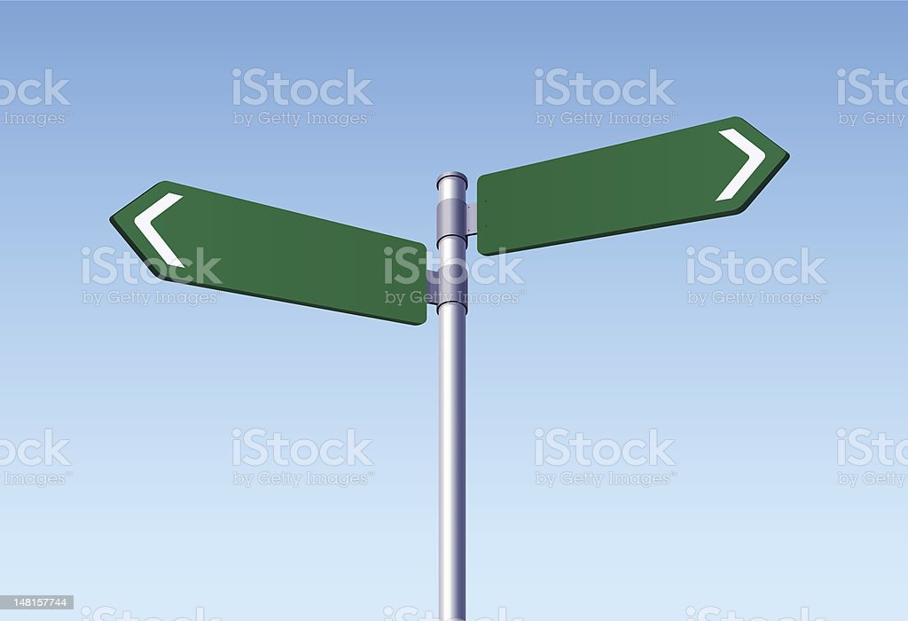 Two Road Signs vector art illustration