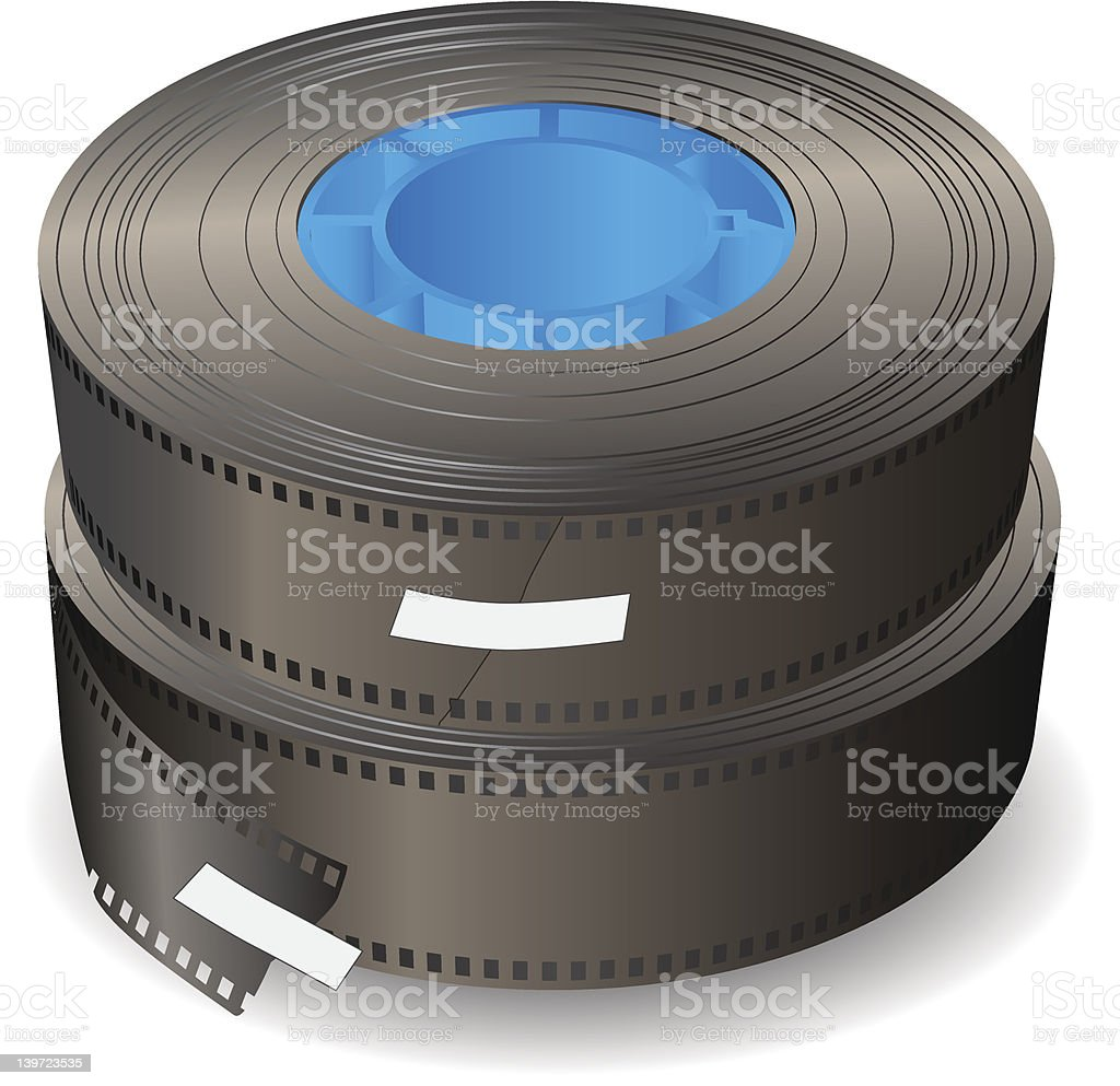 Two rolls of film royalty-free stock vector art