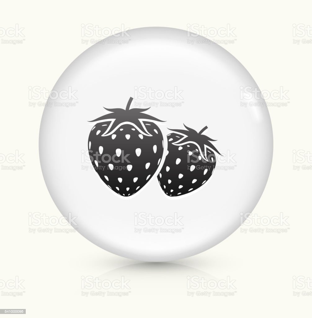 Two Strawberries icon on white round vector button vector art illustration