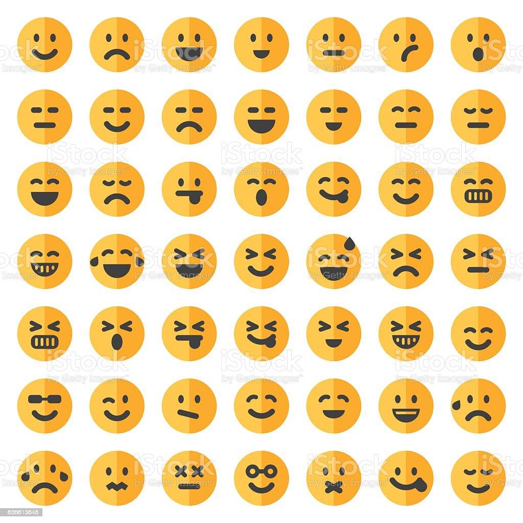 Two tone emoji set 1 vector art illustration