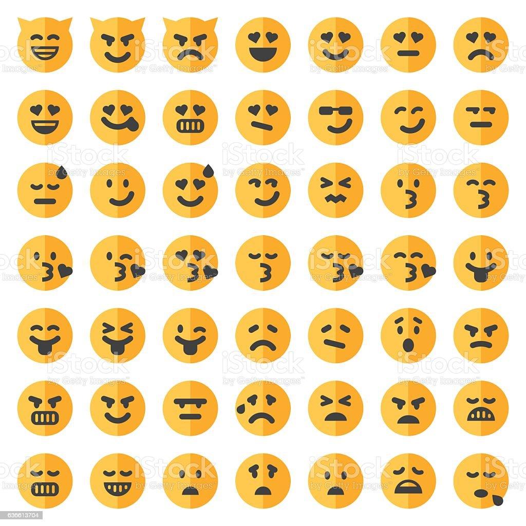 Two tone emoji set 2 vector art illustration
