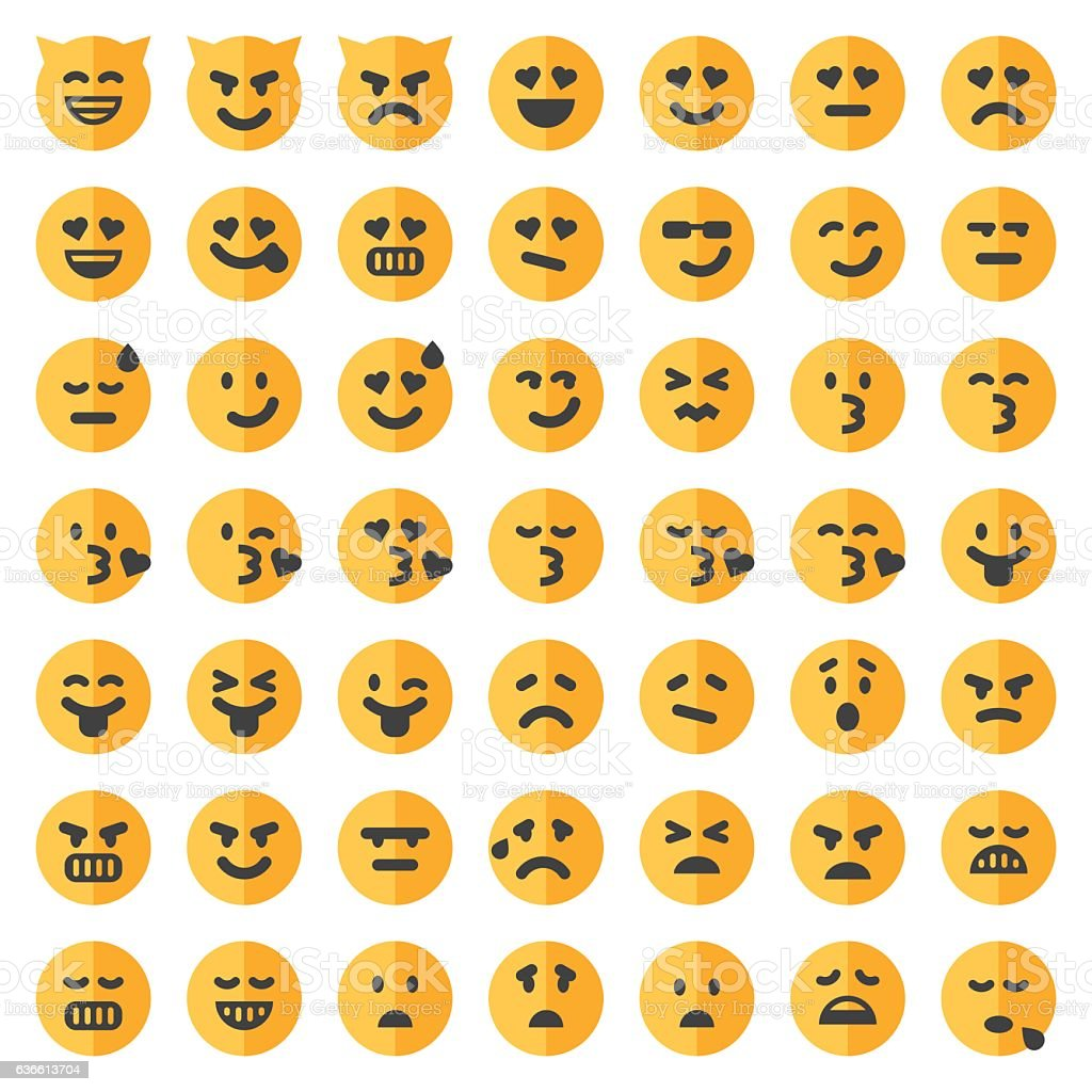 Two tone emoji set 2 vector art illustration