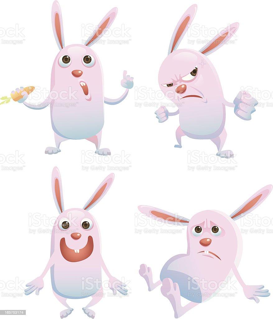 two tone rabbit royalty-free stock vector art