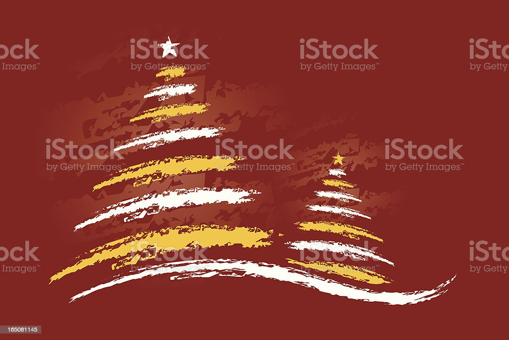 Two Trees royalty-free stock vector art