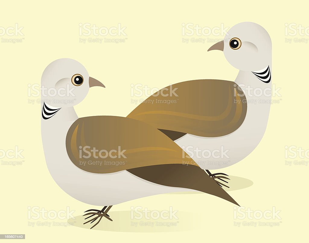 Two Turtle Doves royalty-free stock vector art