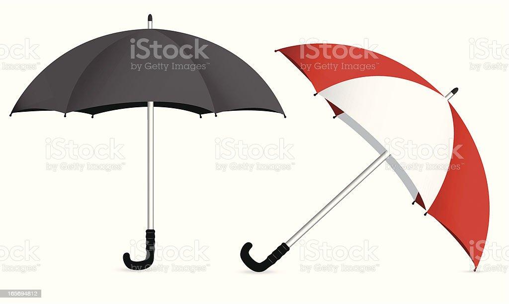 Two umbrellas - VECTOR royalty-free stock vector art