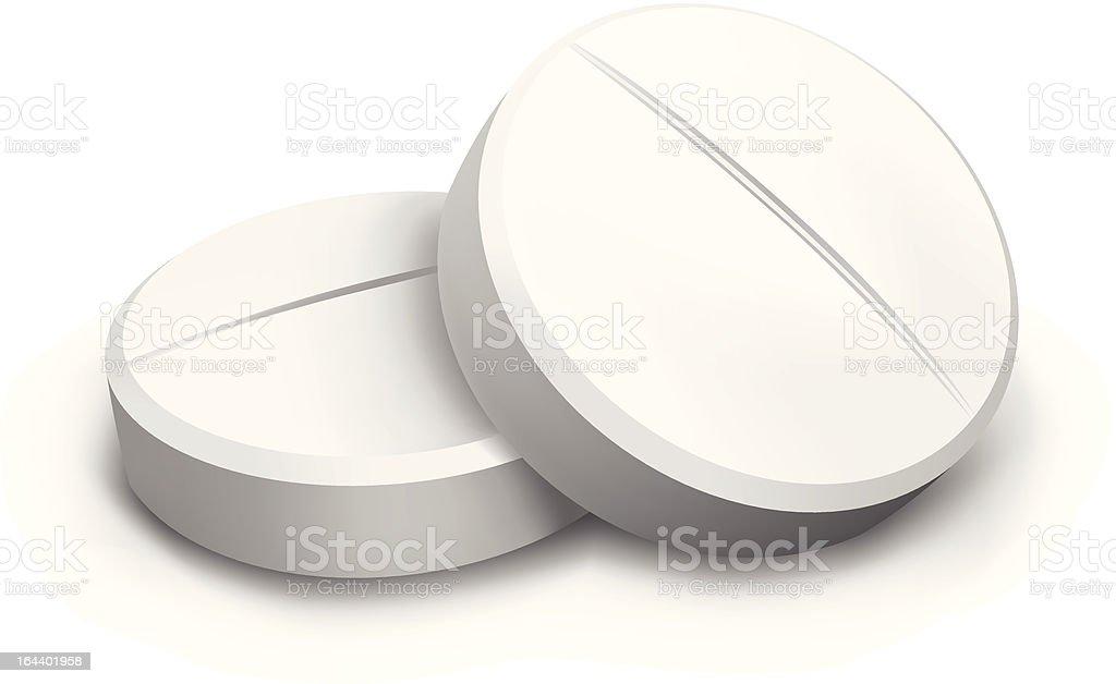 two vector pills vector art illustration