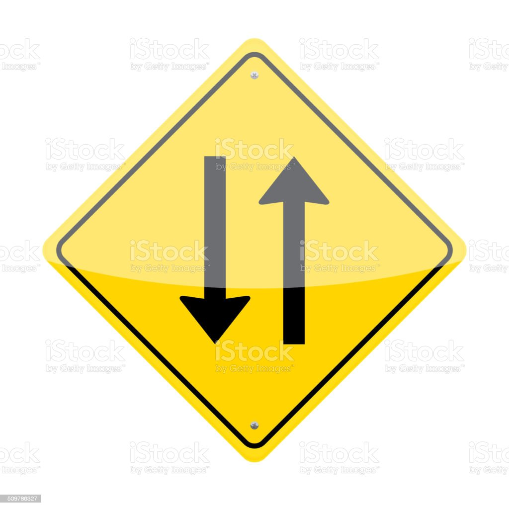 Two Way Sign vector art illustration