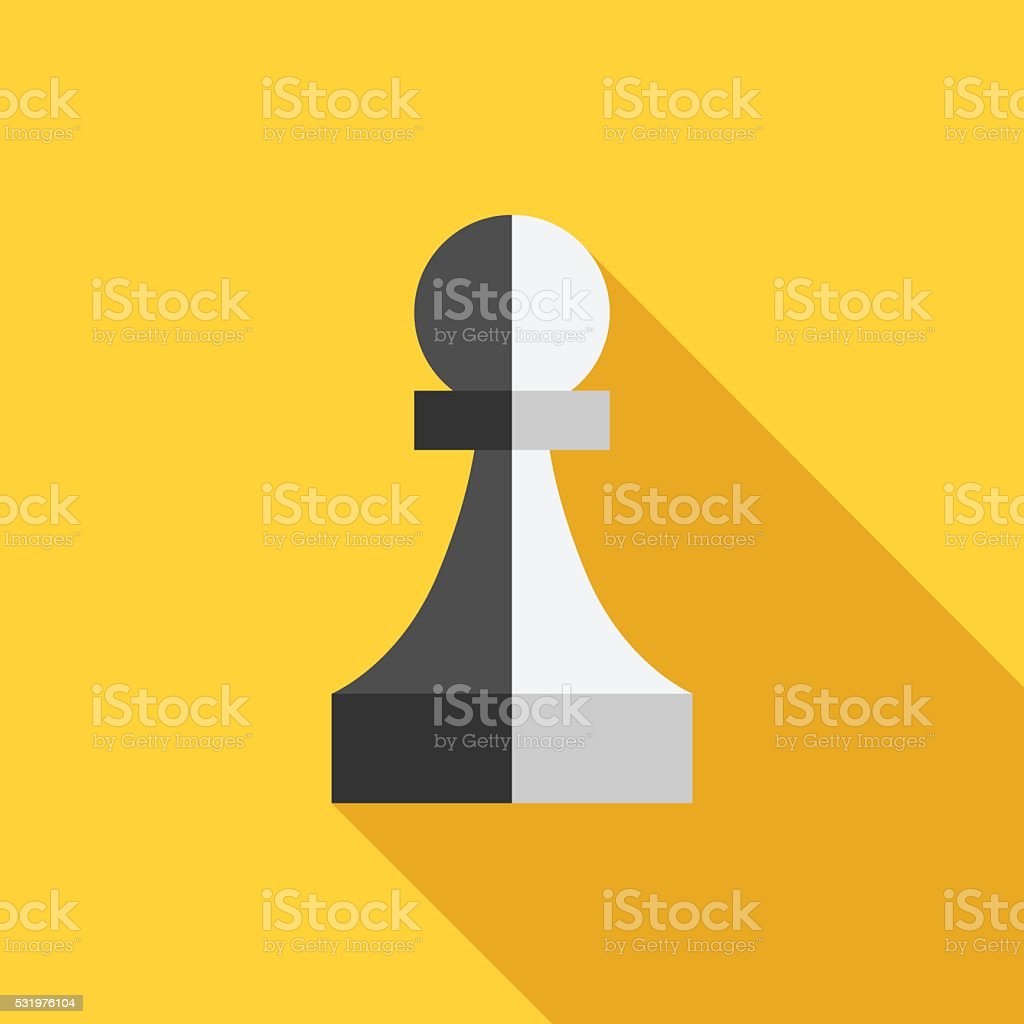 Two-faced traitor pawn vector art illustration