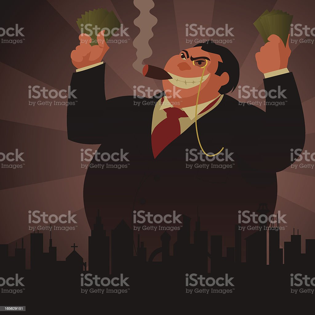 Tycoon vector art illustration