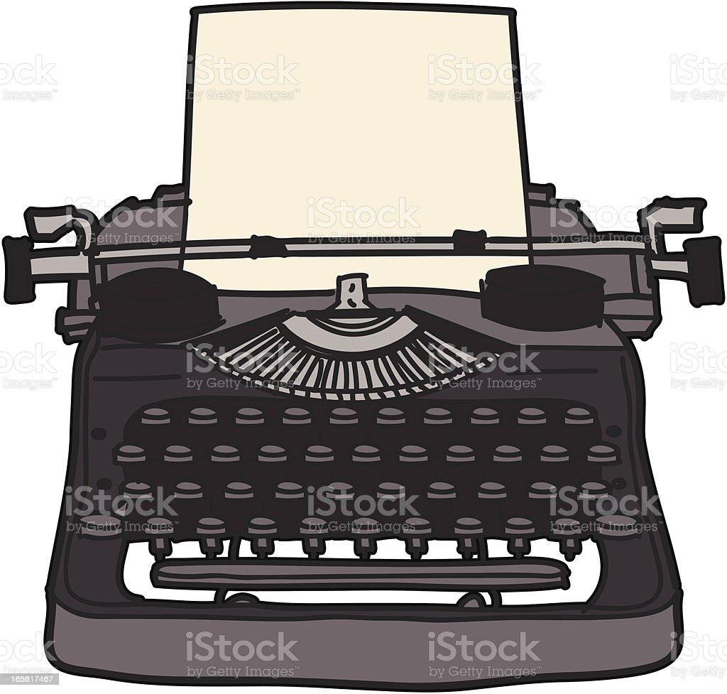 Type Writer vector art illustration