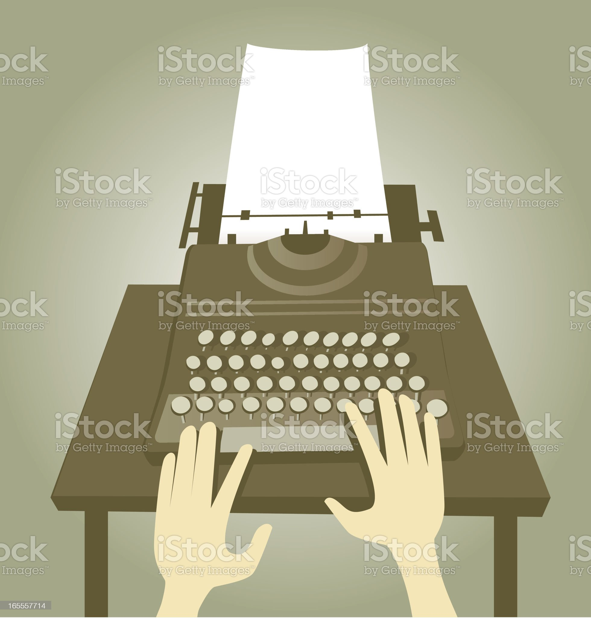 Type Writing royalty-free stock vector art