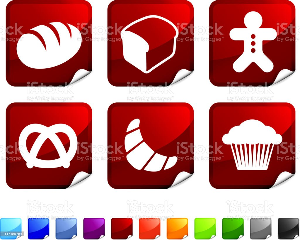 Types of bread royalty free vector icon set vector art illustration