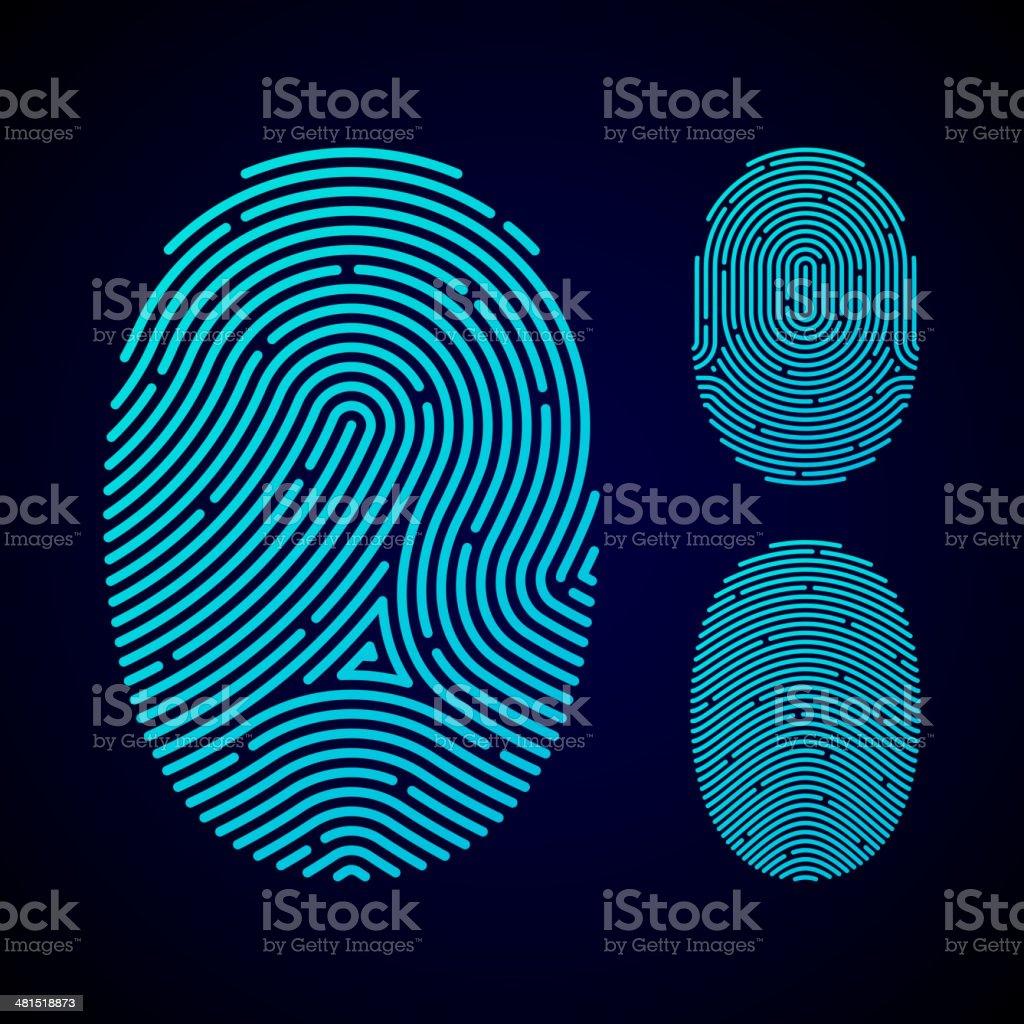 Types of fingerprint patterns vector art illustration